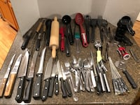 Large Lot of 53 Kitchen Utensils and Silverware 48 km