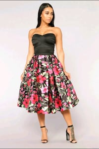 Black Floral Dress Falls Church, 22042