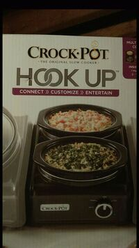black and gray Crock Pot Hook Up dual slow cooker  Chicago