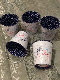 4th of July buckets, Metal Pail Downingtown, 19335
