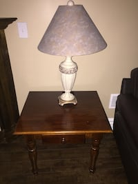 2 dark wooden coffee tables, 2 night lamps  Toronto, M6A 1J1