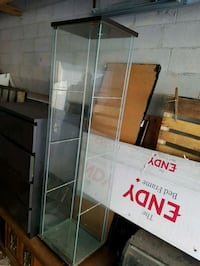 Professional glass display case