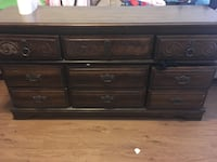brown wooden 6-drawer lowboy dresser Athens, 30606