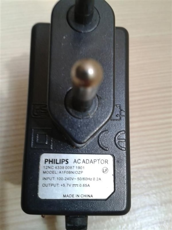 Philips Adaptor - 5.7 V  0.65 A. 0
