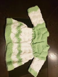green and white knitted textile Edmonton, T5Z 3N1