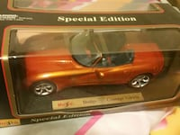 red Dodge toy car