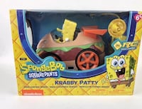 SpongeBob Squarepants Krabby Patty Remote Control Car Orange, 92865