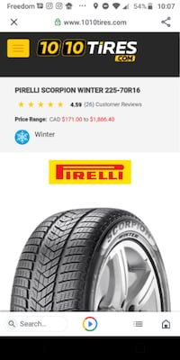 4 PIRELLI Scorpion Winter tires+Steel Rims Great Condition