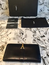 Saint Laurent YSL black goatskin wallet Toronto