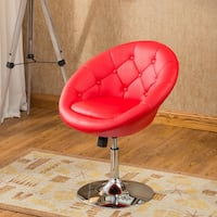 Brad New Red Leather Vanity Chair Dining Stool La Puente