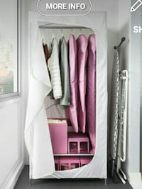 white portable wardrobe screenshot Surrey, V3X 1P4