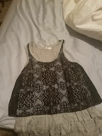 women's black lace tank top