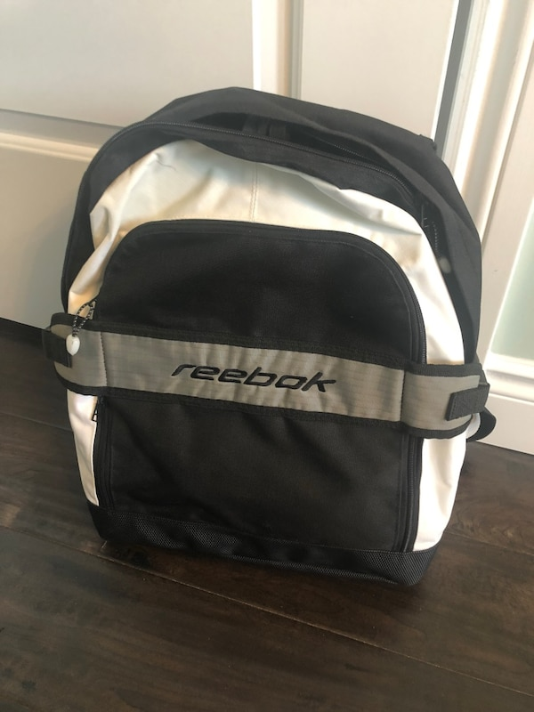 Used Reebok backpack. White and black. Great condition for sale in ...