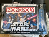 Star Wars 40th anniversary edition monopoly  Owings Mills