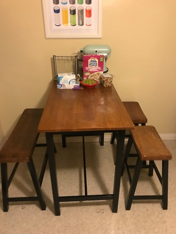 High top table and stools - pick up only
