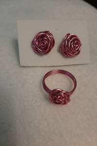 Rose Ring and earrings
