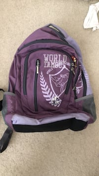 Purple and black the north face backpack