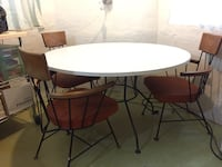 Mid century table and chairs Chicago