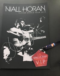 Niall Horan exclusive signed tour poster with VIP tag Fishkill, 12508