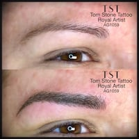 Microblading or 3D eyebrow tattoo. Los Angeles, 90027