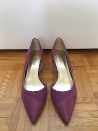 pair of purple patent leather pointed-toe pumps Toronto, M4V