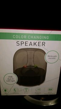 color changing speaker phone usb new