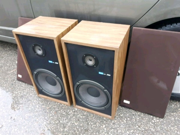 brown and black stereo component