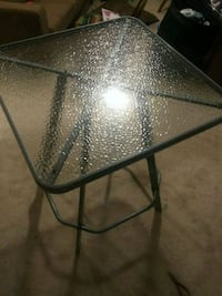 black metal framed glass top table Pine Mountain Valley, 31823