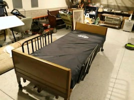 A single medical bed all electric with remote in great condition