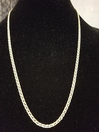 14k Gold Diamond cut Mariner Chain