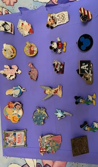 Disney Trading Pins, one with Hidden Mickey