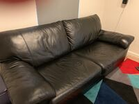 Black leather sofa Clarksburg