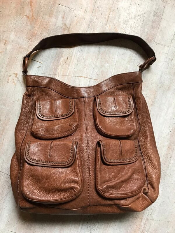 3a14340e335f Used Large Camel colored Banana Republic Leather Purse for sale in ...