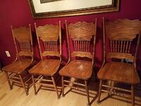 four brown wooden windsor chairs Nottingham, 21236