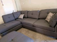 New Sectional Sofa with Trimmed Nailhead Included Houston, 77038