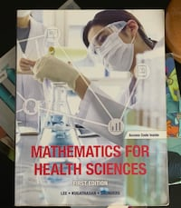 Mathematics for Health Sciences - First Edition