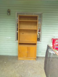 brown wooden TV hutch Fort Smith, 72901
