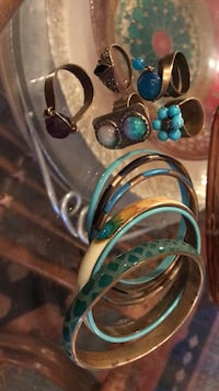 5 rings with gemstone and 6 bracelet all for 55 Vancouver, V6H 1S7