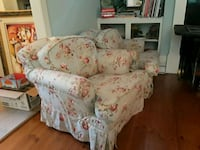 Seafoam blue and pink floral chairs, EACH 155 Mount Pleasant, 29464