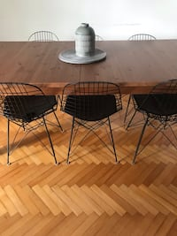 6 adet vitra wire chair