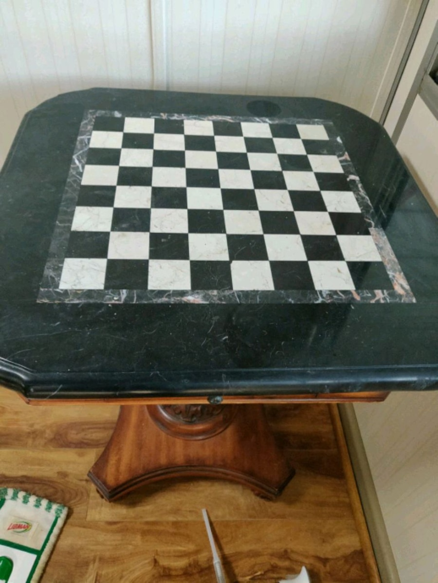 Chess/ Checkers Side Table!