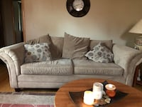 Living room set. Tan, includes pillows. Good condition. Negotiable price. Make an offer today Stratford, 06614