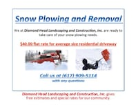 Snow Plowing Services Randolph, 02368