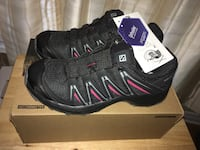 Salomon XA Kuban Trail Running Shoes Black/Cerise Women Size 7.5 US Ortholite New in Box Montréal, H4G 1M2