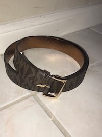 black leather belt with silver buckle Houston, 77084
