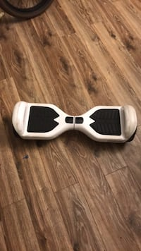 white and black self balancing board
