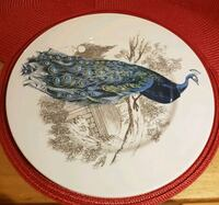 Serving plate, hand painted. Toronto, M1K 4Y6