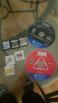 Cod ww2/doom ps4. 3 3ds games and 3 Pokemon games  Wilmington, 19805