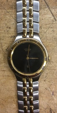 Citizen watch yellow / white stainless steel w black face  759760-3 Baltimore, 21205