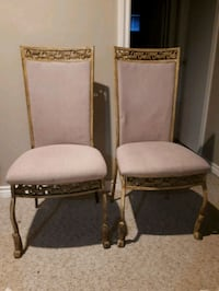 METAL AND CLOTH CHAIRS